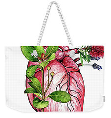 Flower Heart Weekender Tote Bag