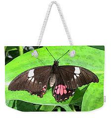 Flower Imprint On Wing Weekender Tote Bag