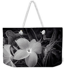 Flower In Black And White Weekender Tote Bag