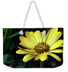 Flower In Yellow Weekender Tote Bag