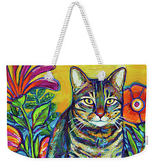 Flower Kitty Weekender Tote Bag by Robert Phelps