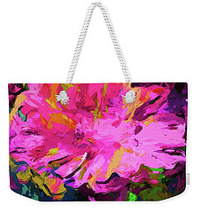 Flower Lolly Pink Yellow Weekender Tote Bag