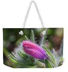 Weekender Tote Bag featuring the photograph Flower-macro by Sergey Simanovsky