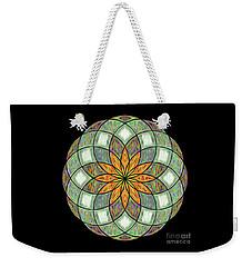 Weekender Tote Bag featuring the digital art Flower Mandala Painted By Kaye Menner by Kaye Menner