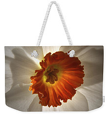 Weekender Tote Bag featuring the photograph Flower Narcissus by Nancy Griswold