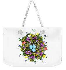Flower Nest Weekender Tote Bag