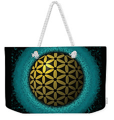 Weekender Tote Bag featuring the digital art Flower Of Life by Vincent Autenrieb