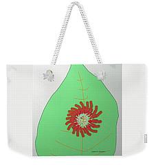 Flower On The Leaf Weekender Tote Bag by Lenore Senior