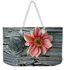 Flower On Wood I Weekender Tote Bag by Patricia Strand