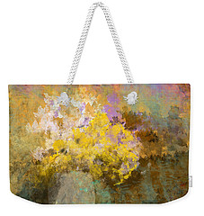 Weekender Tote Bag featuring the digital art Flower Pot by Jessica Wright