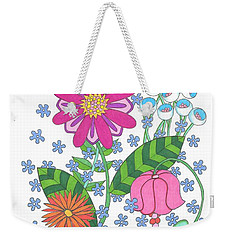 Flower Power 3 Weekender Tote Bag