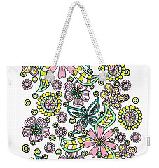 Flower Power 5 Weekender Tote Bag