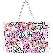 Flower Power 8 Weekender Tote Bag