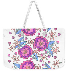 Flower Power 9 Weekender Tote Bag