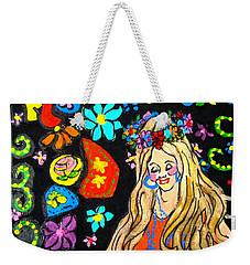 Flower Power Weekender Tote Bag by Barbara O'Toole