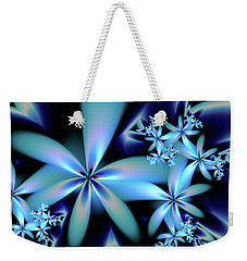 Flower Power Blue Weekender Tote Bag