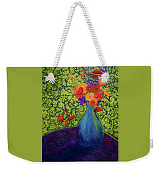 Flower Power Weekender Tote Bag by Nancy Jolley