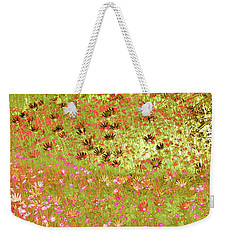 Weekender Tote Bag featuring the digital art Flower Praise by Linde Townsend