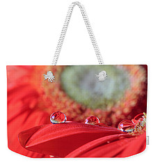 Flower Reflections Weekender Tote Bag by Angela Murdock