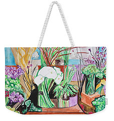 Flower Shop Fantasy Weekender Tote Bag by Esther Newman-Cohen