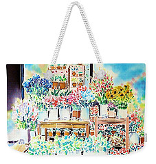 Flower Shop In Paris Weekender Tote Bag