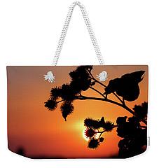 Flower Silhouette Weekender Tote Bag by Teemu Tretjakov