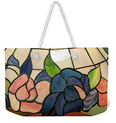 Weekender Tote Bag featuring the photograph Flower Stained Glass  by Chris Flees