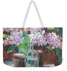 Flower Still Life,blooming Lilac Weekender Tote Bag