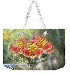 Flower Streaks Weekender Tote Bag