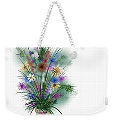 Weekender Tote Bag featuring the digital art Flower Study One by Darren Cannell