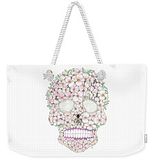 Flower Sugar Skull Weekender Tote Bag