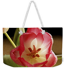 Weekender Tote Bag featuring the photograph Flower Tulip by Nancy Griswold