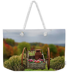 Weekender Tote Bag featuring the photograph Flower Wagon by Mary Timman