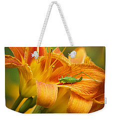 Flower With Company Weekender Tote Bag by Christina Rollo