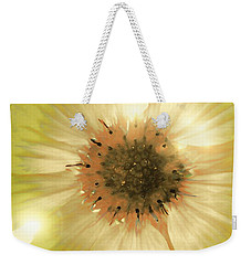 Weekender Tote Bag featuring the photograph Flower World by Kathy Bassett