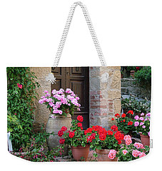Flowered Montechiello Door Weekender Tote Bag