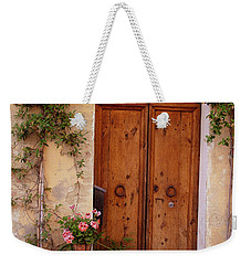 Flowered Tuscan Door Weekender Tote Bag