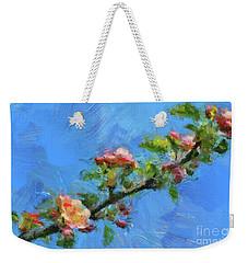 Flowering Apple Branch Weekender Tote Bag by Dragica Micki Fortuna