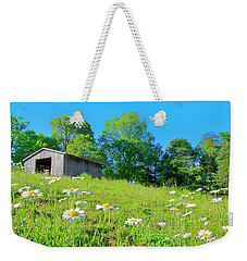 Flowering Hillside Meadow - View 2 Weekender Tote Bag