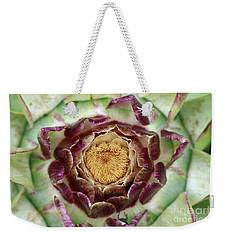 Weekender Tote Bag featuring the photograph Flowering Houseleek by Michal Boubin