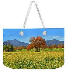 Flowering Meadow, Peaks Of Otter,  Virginia. Weekender Tote Bag