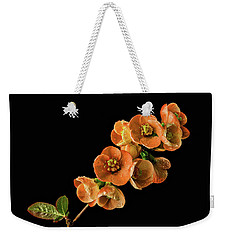 Weekender Tote Bag featuring the photograph Flowering Quince Orange by Mary Jo Allen
