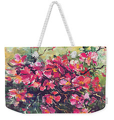 Flowering Quince Weekender Tote Bag