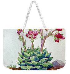 Flowering Succulent Weekender Tote Bag