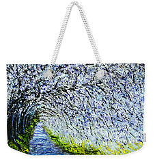 Flowering Tree Lane Weekender Tote Bag