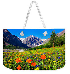 Flowering Valley. Mountain Karatash Weekender Tote Bag