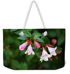 Weekender Tote Bag featuring the photograph Flowers 1 by Ayasha Loya