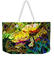 Flowers And Butterfly Weekender Tote Bag by Carol Crisafi