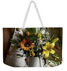 Flowers And Lemons Weekender Tote Bag