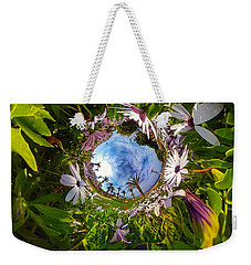 Flowers And Palm Trees Weekender Tote Bag